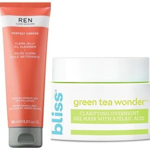 NEW set of Ren cleanser and bliss gel mask